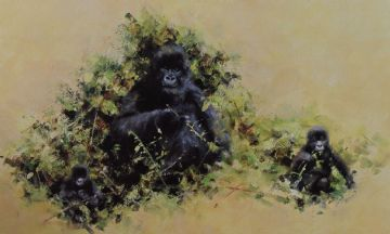 David Shepherd Signed Limited Edition Print Of Mountain Gorillas